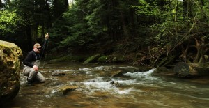 Senyo fly fishing for brook trout