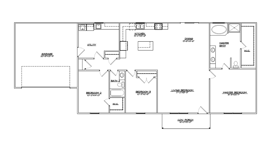 The Oakridge Floor Plan for fliers